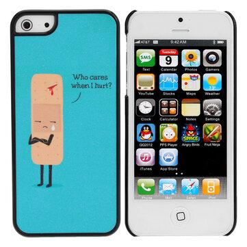 Dễ thương Sad Cartoon Wound nhựa Hard Case Case cho iPhone 5